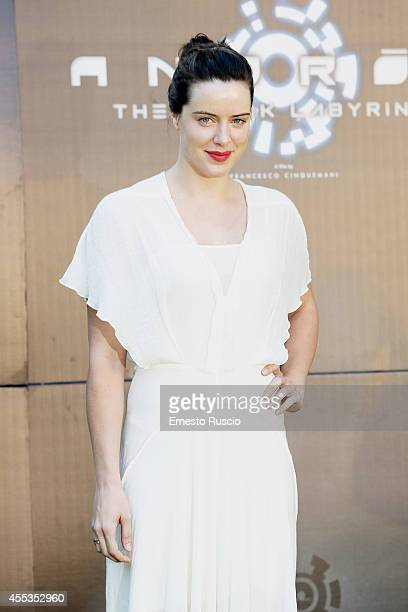 Actress Michelle Ryan attends the 'Andron The Black Labyrinth' Photocall at La Casa Del Cinema on September 13 2014 in Rome Italy