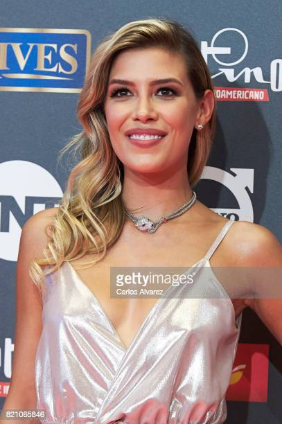 Actress Michelle Salas attends the Platino Awards 2017 photocall at the La Caja Magica on July 22 2017 in Madrid Spain