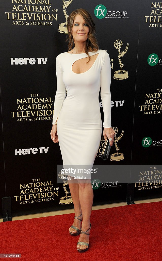 Actress Michelle Stafford arrives at the 41st Annual Daytime Emmy Awards at The Beverly Hilton Hotel on June 22 2014 in Beverly Hills California