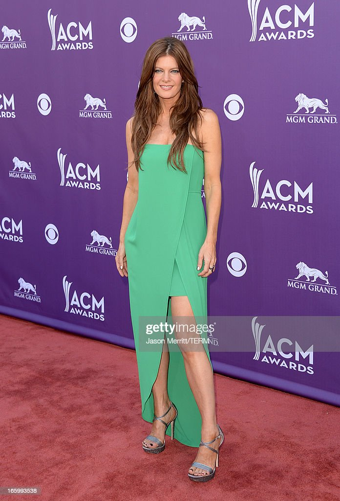 Actress Michelle Stafford arrives at the 48th Annual Academy of Country Music Awards at the MGM Grand Garden Arena on April 7, 2013 in Las Vegas, Nevada.