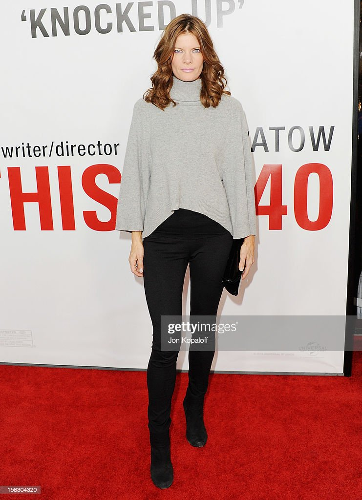 Actress Michelle Stafford arrives at the Los Angeles Premiere 'This Is 40' at Grauman's Chinese Theatre on December 12, 2012 in Hollywood, California.