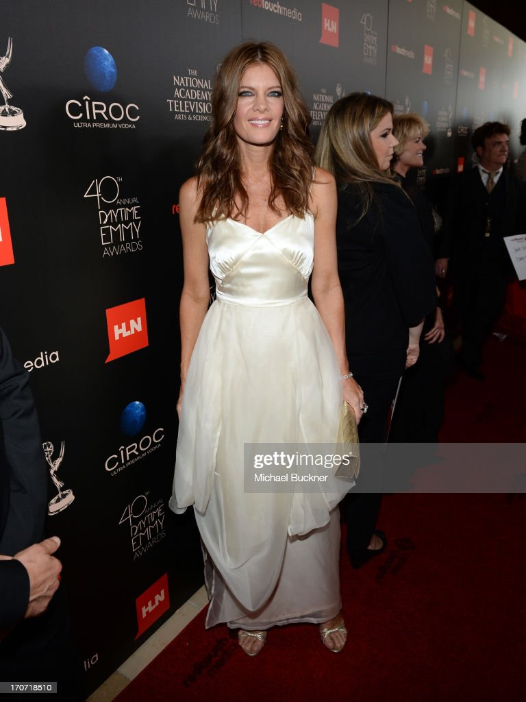 Actress <a gi-track='captionPersonalityLinkClicked' href=/galleries/search?phrase=Michelle+Stafford&family=editorial&specificpeople=171699 ng-click='$event.stopPropagation()'>Michelle Stafford</a> attends the 40th Annual Daytime Emmy Awards at the Beverly Hilton Hotel on June 16, 2013 in Beverly Hills, California. 23774_001_0730.JPG
