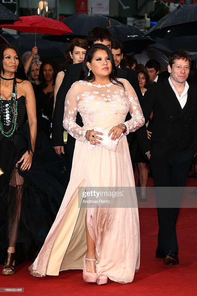 Actress Michelle Thrush, actress Misty Upham and actor Mathieu Amalric attend the 'Jimmy P. (Psychotherapy Of A Plains Indian)' Premiere during the 66th Annual Cannes Film Festival at the Palais des Festivals on May 18, 2013 in Cannes, France.