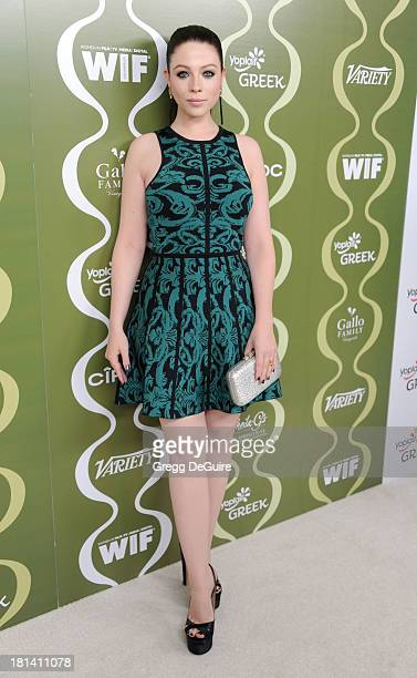 Actress Michelle Trachtenberg arrives at the Variety and Women In Film PreEmmy Party at Scarpetta on September 20 2013 in Beverly Hills California