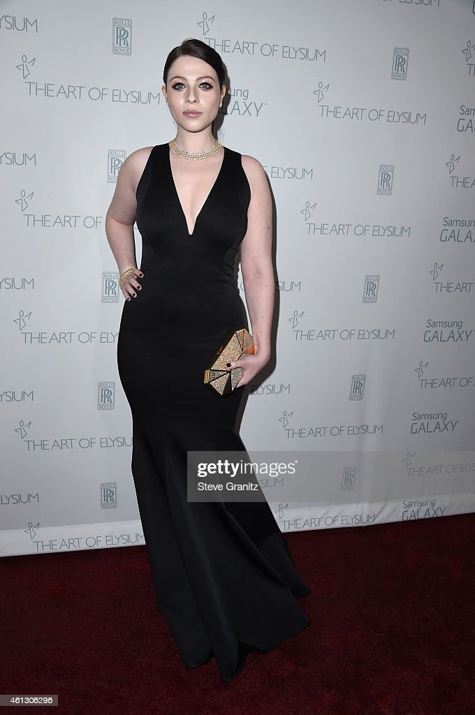 Actress Michelle Trachtenberg attends The Art of Elysium 8th Annual Heaven Gala at Hangar 8 on January 10 2015 in Santa Monica California