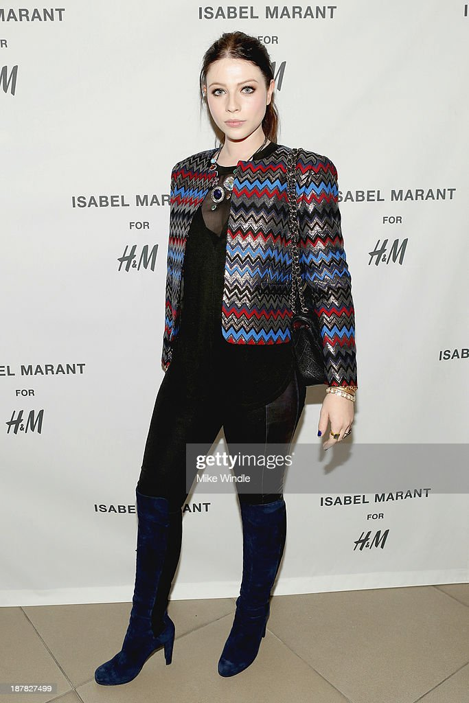 Actress <a gi-track='captionPersonalityLinkClicked' href=/galleries/search?phrase=Michelle+Trachtenberg&family=editorial&specificpeople=202081 ng-click='$event.stopPropagation()'>Michelle Trachtenberg</a> attends the H&M Isabel Marant VIP Pre Shop Event at H&M on November 12, 2013 in West Hollywood, California.