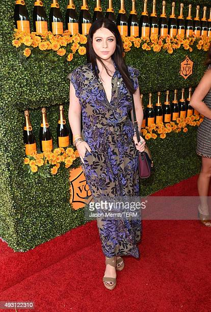 Actress Michelle Trachtenberg attends the SixthAnnual Veuve Clicquot Polo Classic at Will Rogers State Historic Park on October 17 2015 in Pacific...
