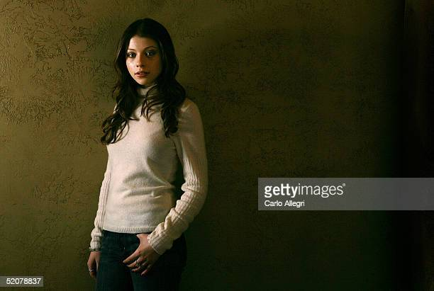 Actress Michelle Trachtenberg of the film 'Mysterious Skin' poses for portraits during the 2005 Sundance Film Festival January 28 2005 in Park City...