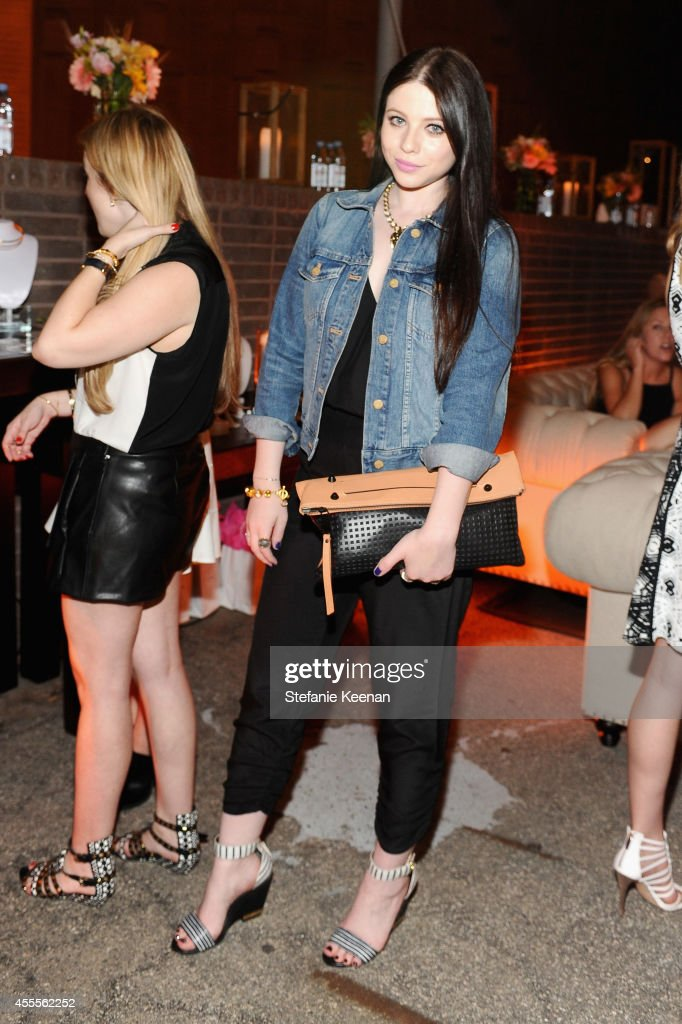 Actress Michelle Trachtenberg wearing Parker clothing and Stella and Bow jewelry attends The Launch of Parker on Spring at The A List on September 16...