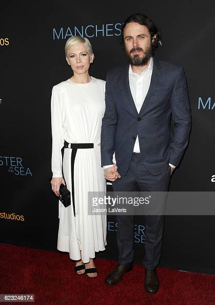 Actress Michelle Williams and actor Casey Affleck attend the premiere of 'Manchester by the Sea' at Samuel Goldwyn Theater on November 14 2016 in...