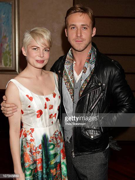 Actress Michelle Williams and actor Ryan Gosling attend Jane Rosenthal and Robert De Niro Host Special Screening of 'Blue Valentine' at Tribeca Grill...