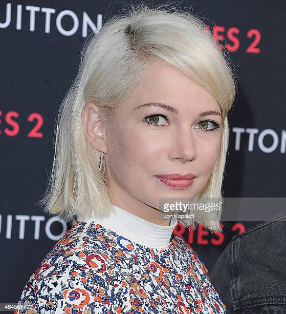 Actress Michelle Williams arrives at Louis Vuitton 'Series 2' The Exhibition on February 5 2015 in Hollywood California