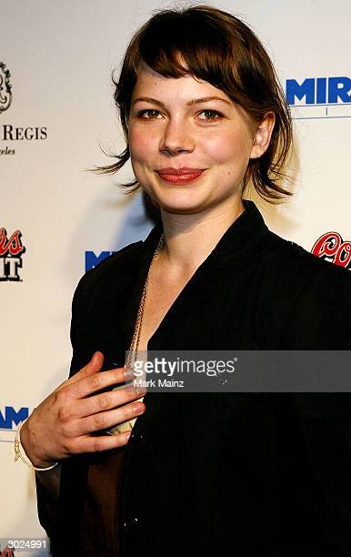Actress Michelle Williams arrives at Miramax's Annual Max Awards held at the Regis Hotel on February 28 2004 in Beverly Hills California