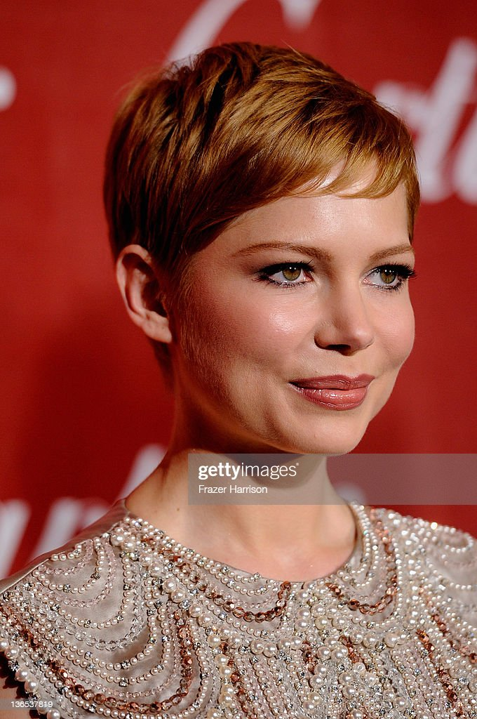 Actress Michelle Williams arrives at the 2012 Palm Springs International Film Festival Awards Gala at Palm Springs Convention Center on January 7, 2012 in Palm Springs, California.