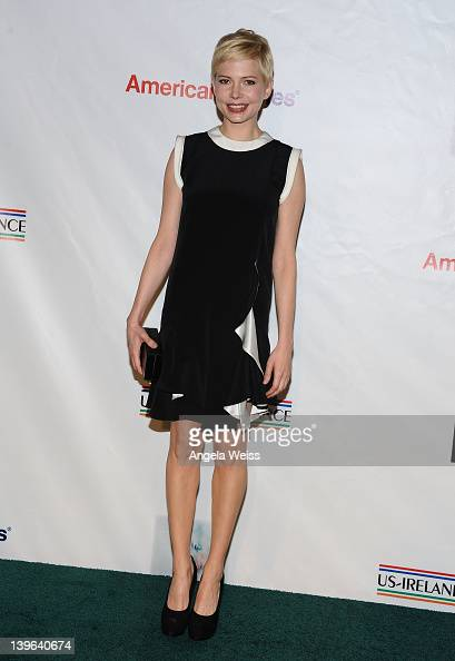 Actress Michelle Williams arrives at the 7th Annual 'Oscar Wilde Honoring The Irish In Film' PreAcademy Awards Event at Bad Robot on February 23 2012...