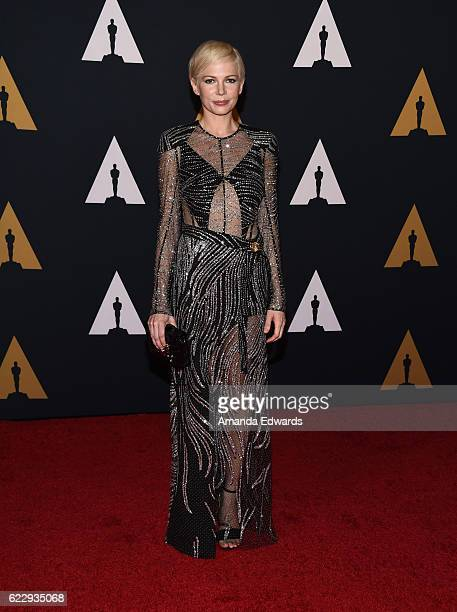 Actress Michelle Williams arrives at the Academy of Motion Picture Arts and Sciences' 8th Annual Governors Awards at The Ray Dolby Ballroom at...