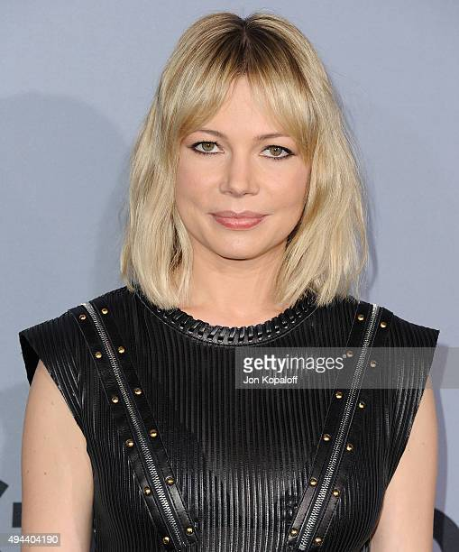 Actress Michelle Williams arrives at the InStyle Awards at Getty Center on October 26 2015 in Los Angeles California