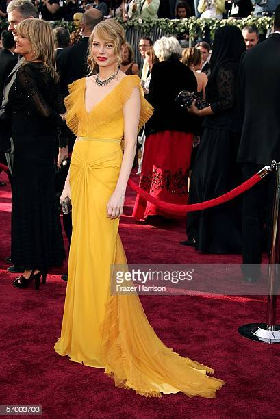 Actress Michelle Williams arrives to the 78th Annual Academy Awards at the Kodak Theatre on March 5 2006 in Hollywood California