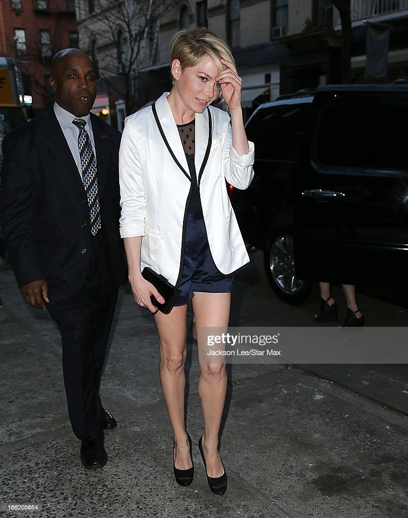 Actress Michelle Williams as seen on April 9, 2013 in New York City.