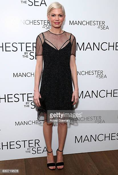 Actress Michelle Williams attends Louis Vuitton presents A Special Screening Of 'Manchester By The Sea' at Crosby Street Hotel on December 18 2016 in...
