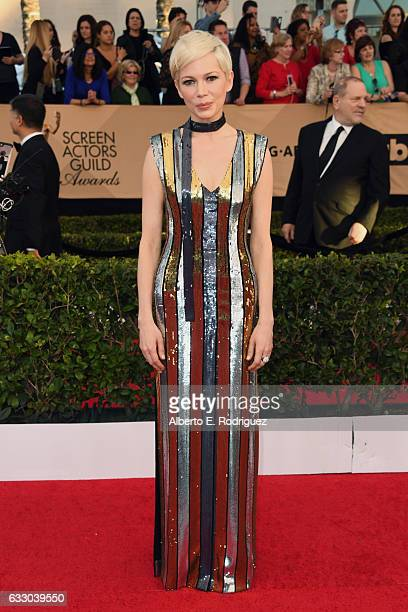 Actress Michelle Williams attends the 23rd Annual Screen Actors Guild Awards at The Shrine Expo Hall on January 29 2017 in Los Angeles California