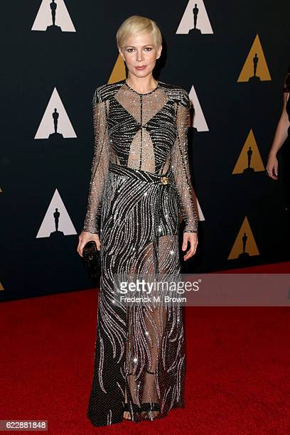 Actress Michelle Williams attends the Academy of Motion Picture Arts and Sciences' 8th annual Governors Awards at The Ray Dolby Ballroom at Hollywood...