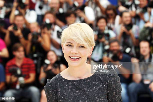 Actress Michelle Williams attends the 'Blue Valentine' Photocall at the Palais des Festivals during the 63rd Annual Cannes Film Festival on May 18...