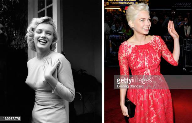 In this composite image a comparison has been made between Marilyn Monroe and Actress Michelle Williams Oscar hype begins this week with the...