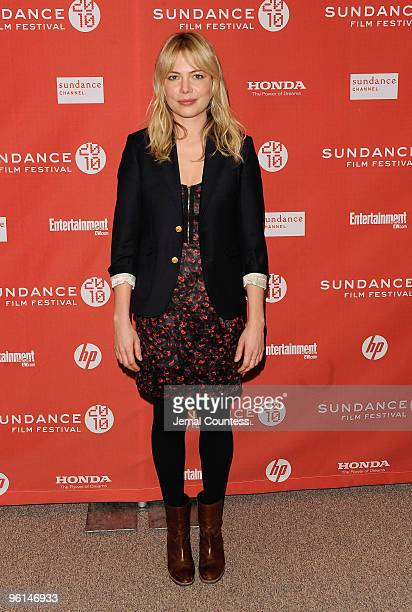 Actress Michelle Williams attends the 'Blue Valentine' premiere during the 2010 Sundance Film Festival at Eccles Center Theatre on January 24 2010 in...