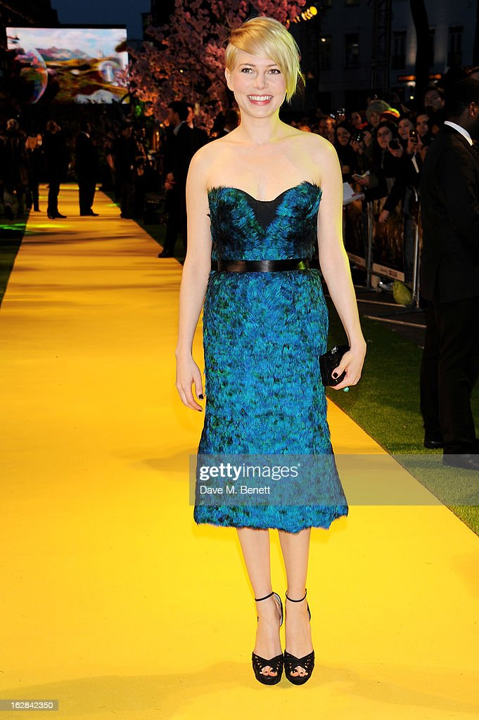 Actress Michelle Williams attends the European Premiere of 'Oz: The Great and Powerful' at Empire Leicester Square on February 28, 2013 in London, England.