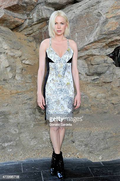 Actress Michelle Williams attends the Louis Vuitton Cruise 2016 Resort Collection shown at a private residence on May 6 2015 in Palm Springs...