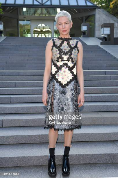 Actress Michelle Williams attends the Louis Vuitton Resort 2018 show at the Miho Museum on May 14 2017 in Koka Japan