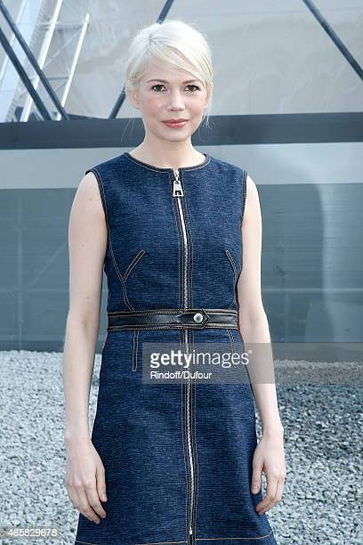 Actress Michelle Williams attends the Louis Vuitton show as part of the Paris Fashion Week Womenswear Fall/Winter 2015/2016 on March 11 2015 in Paris...