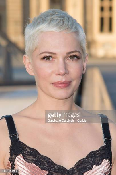 Actress Michelle Williams attends the Louis Vuitton's Dinner for the Launch of Bags by Artist Jeff Koons at Musee du Louvre on April 11 2017 in Paris...