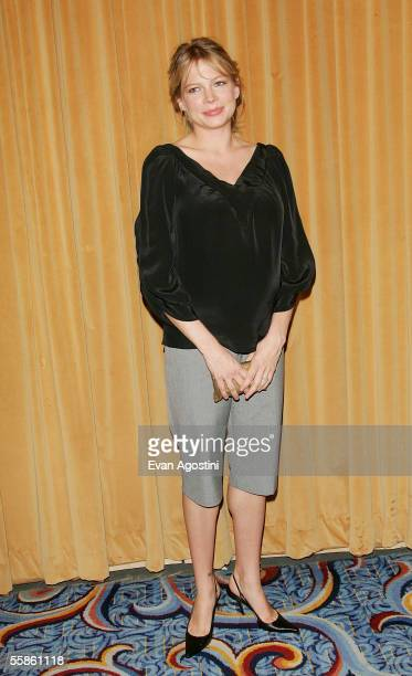 Actress Michelle Williams attends The Motion Pictures Club's 65th Annual Awards Installation Luncheon were she was honored with Female Star of...