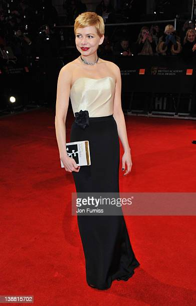 Actress Michelle Williams attends the Orange British Academy Film Awards 2012 at the Royal Opera House on February 12 2012 in London England