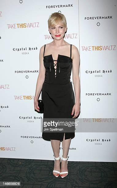 Actress Michelle Williams attends the 'Take This Waltz' premiere at Landmark's Sunshine Cinema on June 21 2012 in New York City