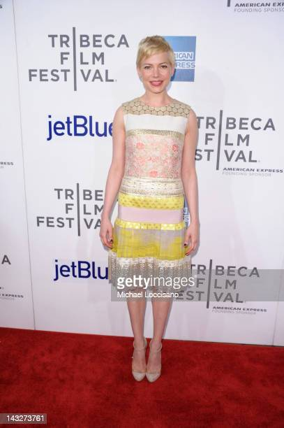Actress Michelle Williams attends the 'Take this Waltz' Premiere during the 2012 Tribeca Film Festival at the Borough of Manhattan Community College...