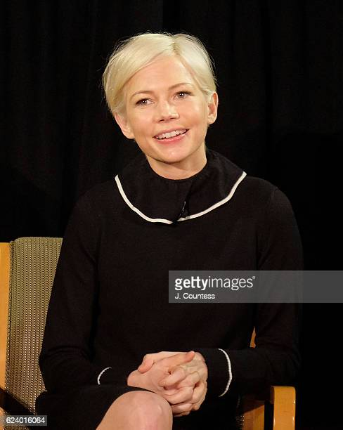 Actress Michelle Williams attends the TimesTalks Featuring Casey Affleck Michelle Williams and Kenneth Lonergan at DGA Theater on November 17 2016 in...