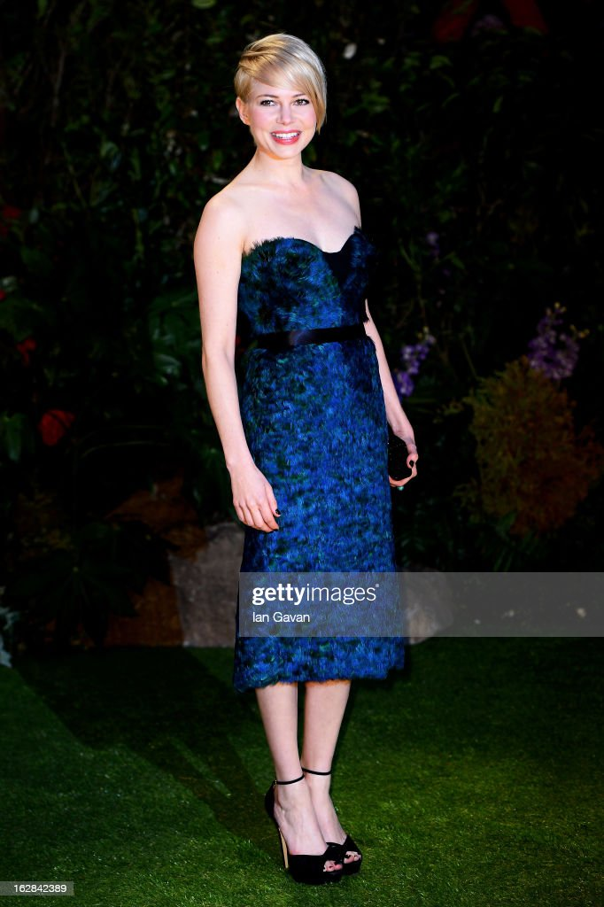 Actress Michelle Williams attends the UK film premiere of Oz: The Great and Powerful at the Empire Leicester Square on February 28, 2013 in London, England.