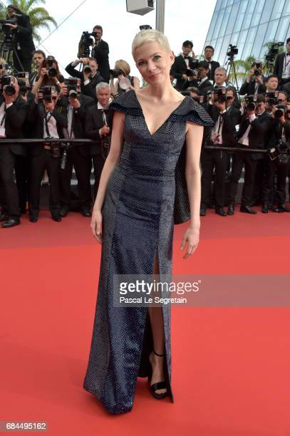 Actress Michelle Williams attends the 'Wonderstruck' screening during the 70th annual Cannes Film Festival at Palais des Festivals on May 18 2017 in...