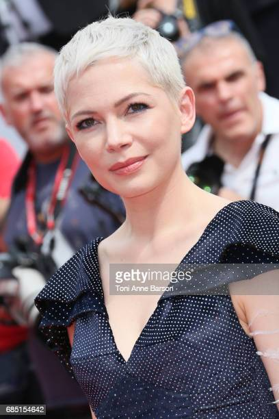 Actress Michelle Williams attends the 'Wonderstruck ' screening during the 70th annual Cannes Film Festival at Palais des Festivals on May 18 2017 in...