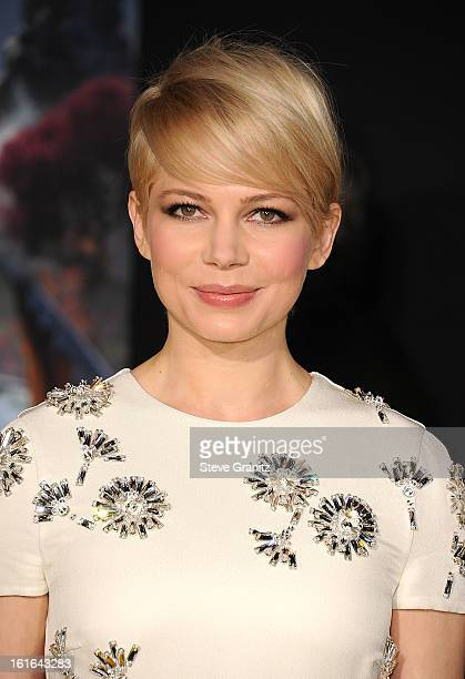 Actress Michelle Williams attends the world premiere of Disney's 'OZ The Great And Powerful' at the El Capitan Theatre on February 13 2013 in...
