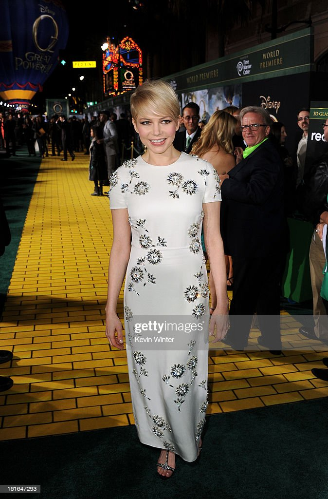 Actress Michelle Williams attends the world premiere of Walt Disney Pictures' 'Oz The Great And Powerful' at the El Capitan Theatre on February 13, 2013 in Hollywood, California.