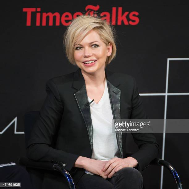 Actress Michelle Williams attends TimesTalk Presents An Evening With 'Cabaret' at TheTimesCenter on February 24 2014 in New York City