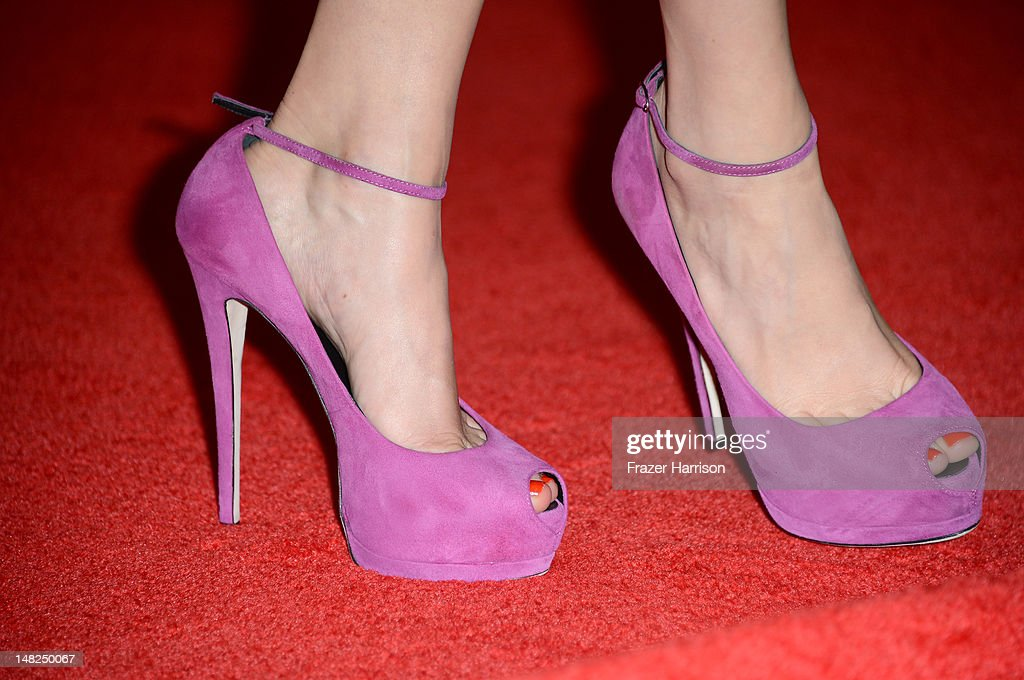 Actress Michelle Williams (shoe detail) attends Walt Disney Studios: 'Frankenweenie,' 'Wreck It Ralph' and 'Oz' during Comic-Con International 2012 held at the Hilton San Diego Bayfront Hotel on July 13, 2012 in San Diego, California.