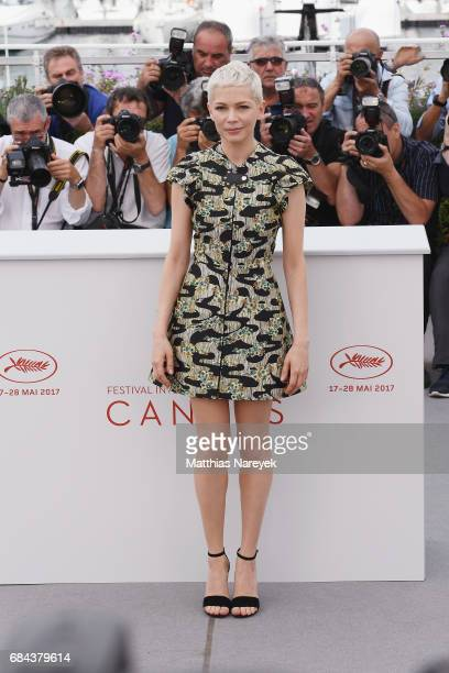 Actress Michelle Williams attends 'Wonderstruck' Photocall during the 70th annual Cannes Film Festival at Palais des Festivals on May 18 2017 in...