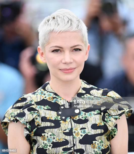 US actress Michelle Williams poses during a photocall for the film 'Wondersrtruck' in competition at the 70th annual Cannes Film Festival in Cannes...