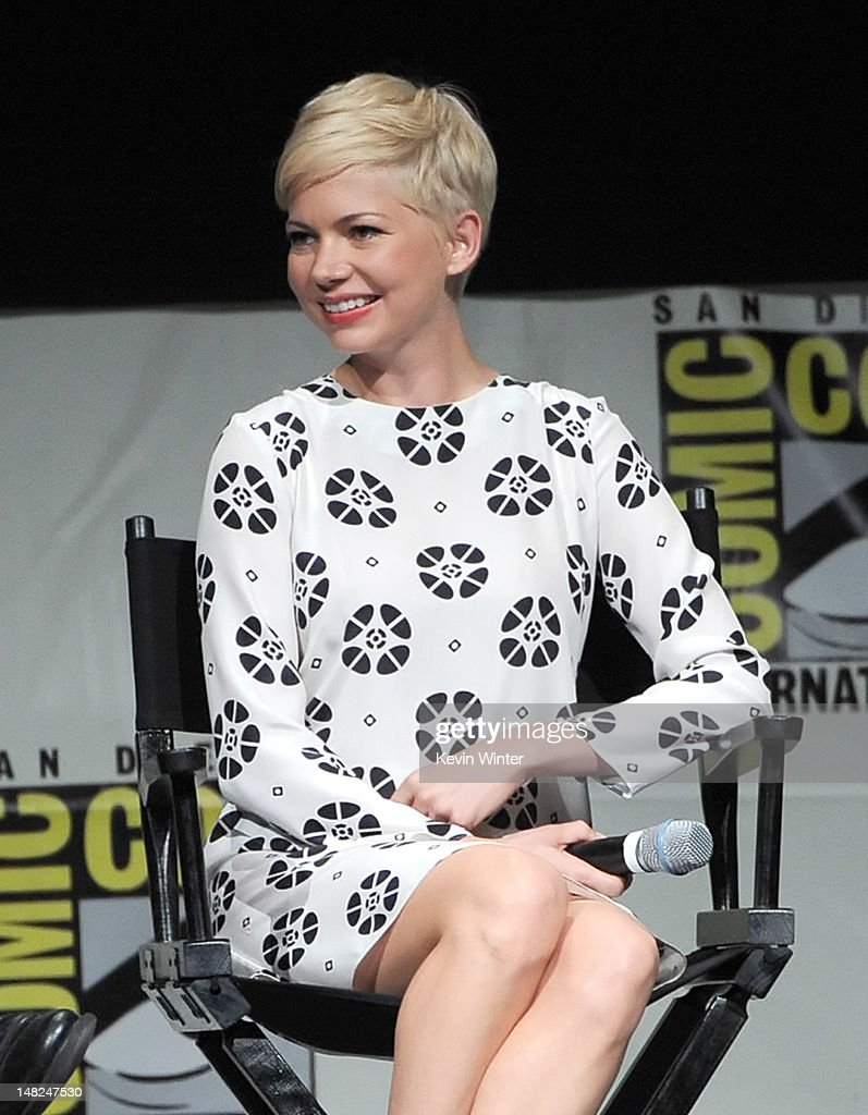 Actress Michelle Williams speaks at the 'Oz: The Great and Powerful' panel during Comic-Con International 2012 at San Diego Convention Center on July 12, 2012 in San Diego, California.