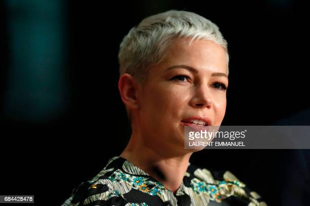US actress Michelle Williams talks on May 18 2017 during a press conference for the film 'Wonderstruck' at the 70th edition of the Cannes Film...